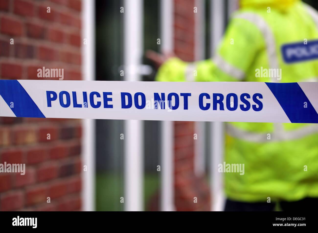 La polizia della scena del crimine Immagini Stock