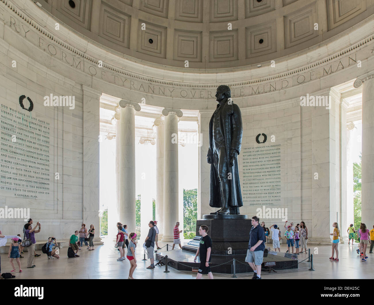 Interno, Jefferson Memorial, Washington DC, Stati Uniti d'America Immagini Stock