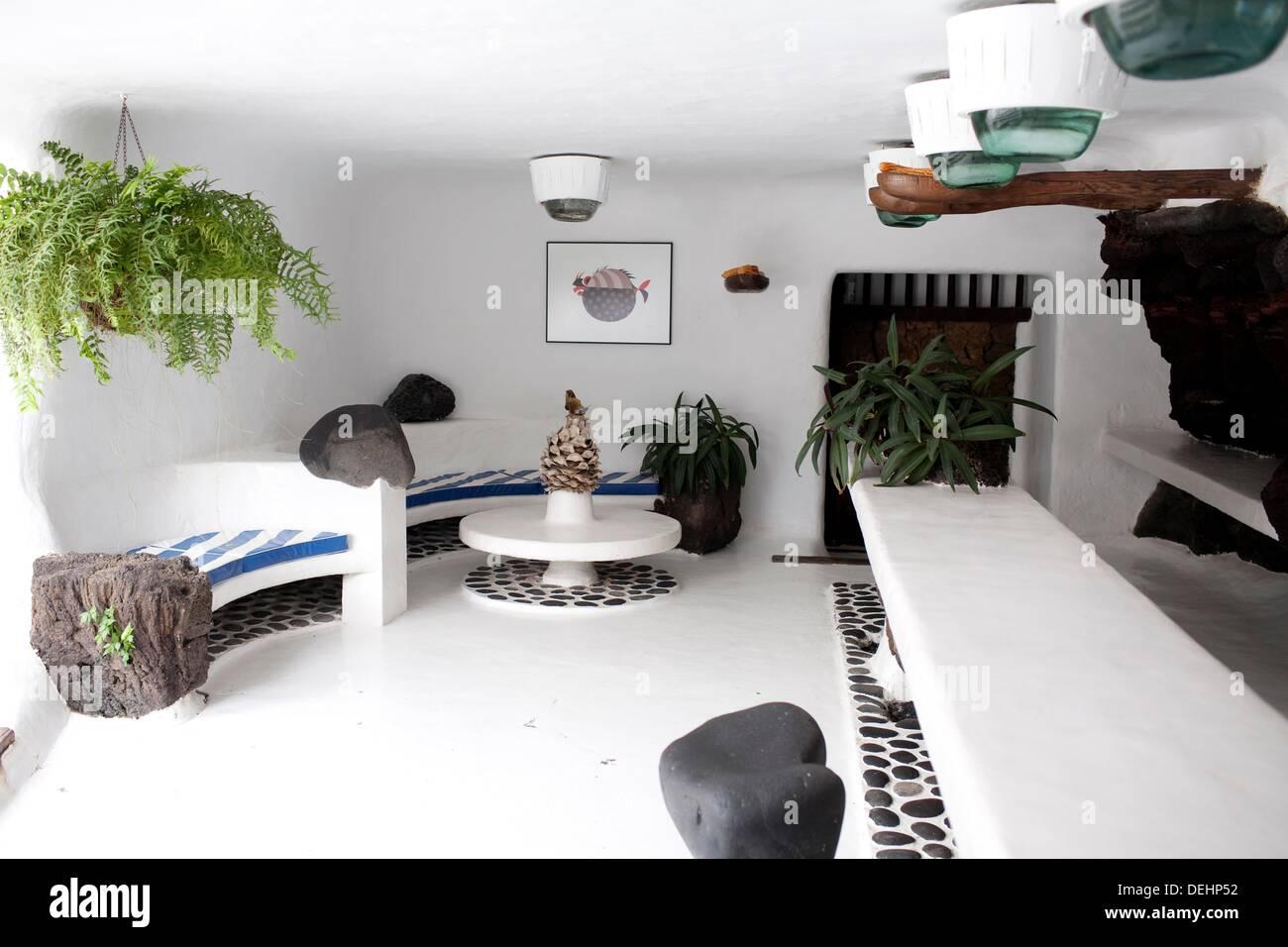 Jameos del Agua Espacio creado por el artista y arquitecto Cesar Manrique Isla de Lanzarote Immagini Stock