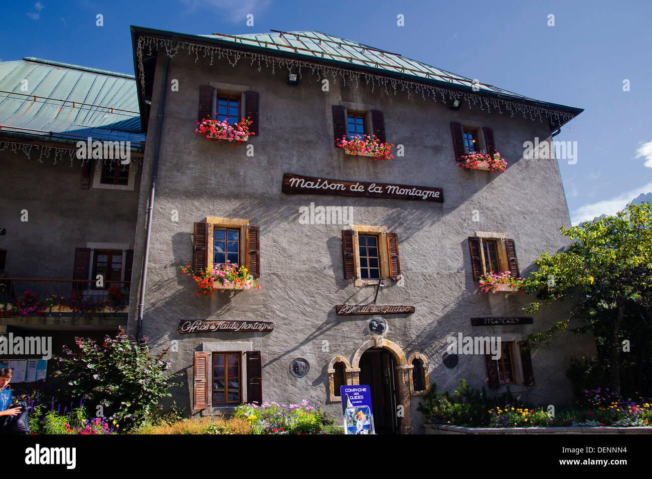 Maison de la montagne, Chamonix, sulle Alpi francesi Immagini Stock
