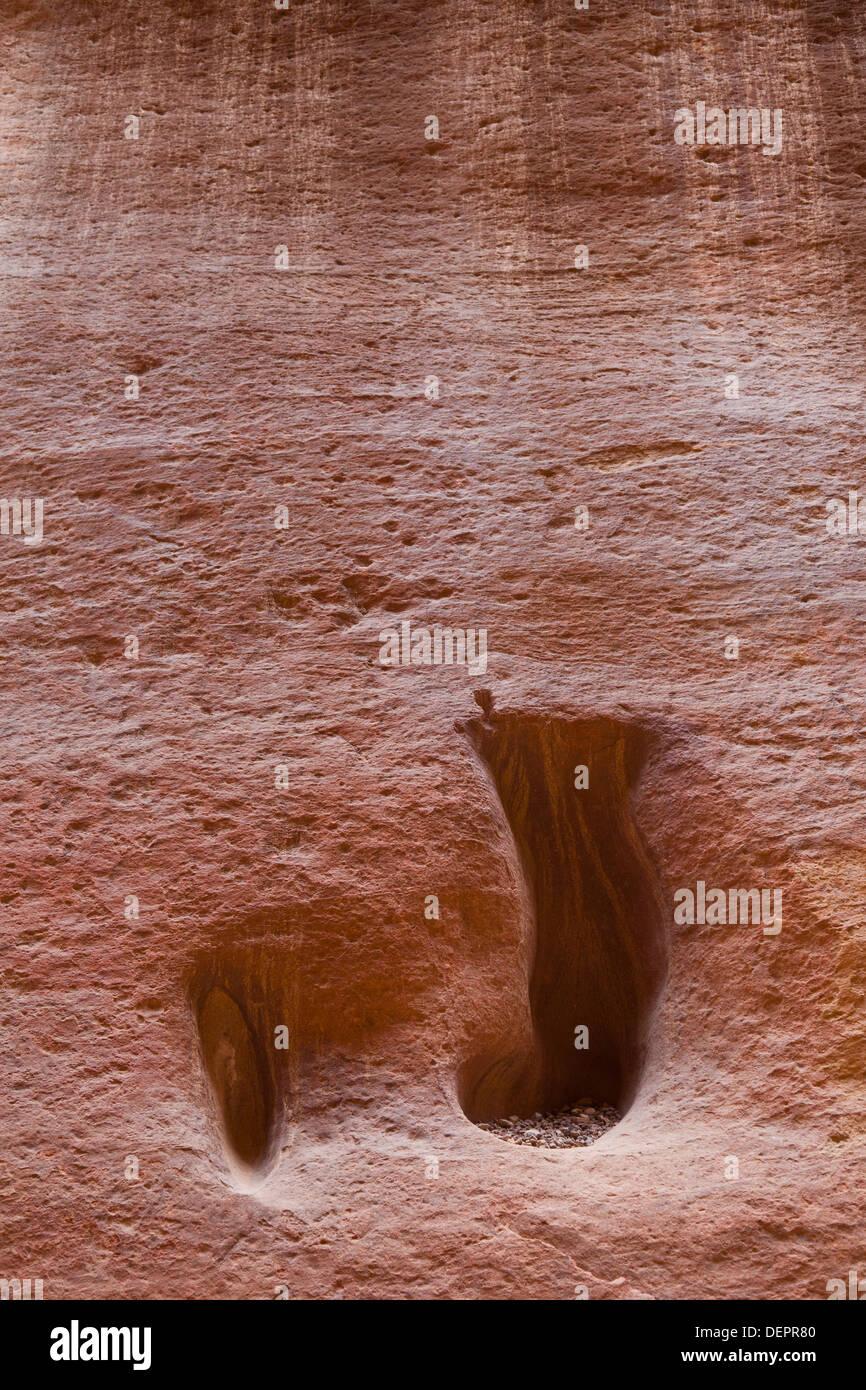 Petra, Giordania, Medio Oriente. Immagini Stock