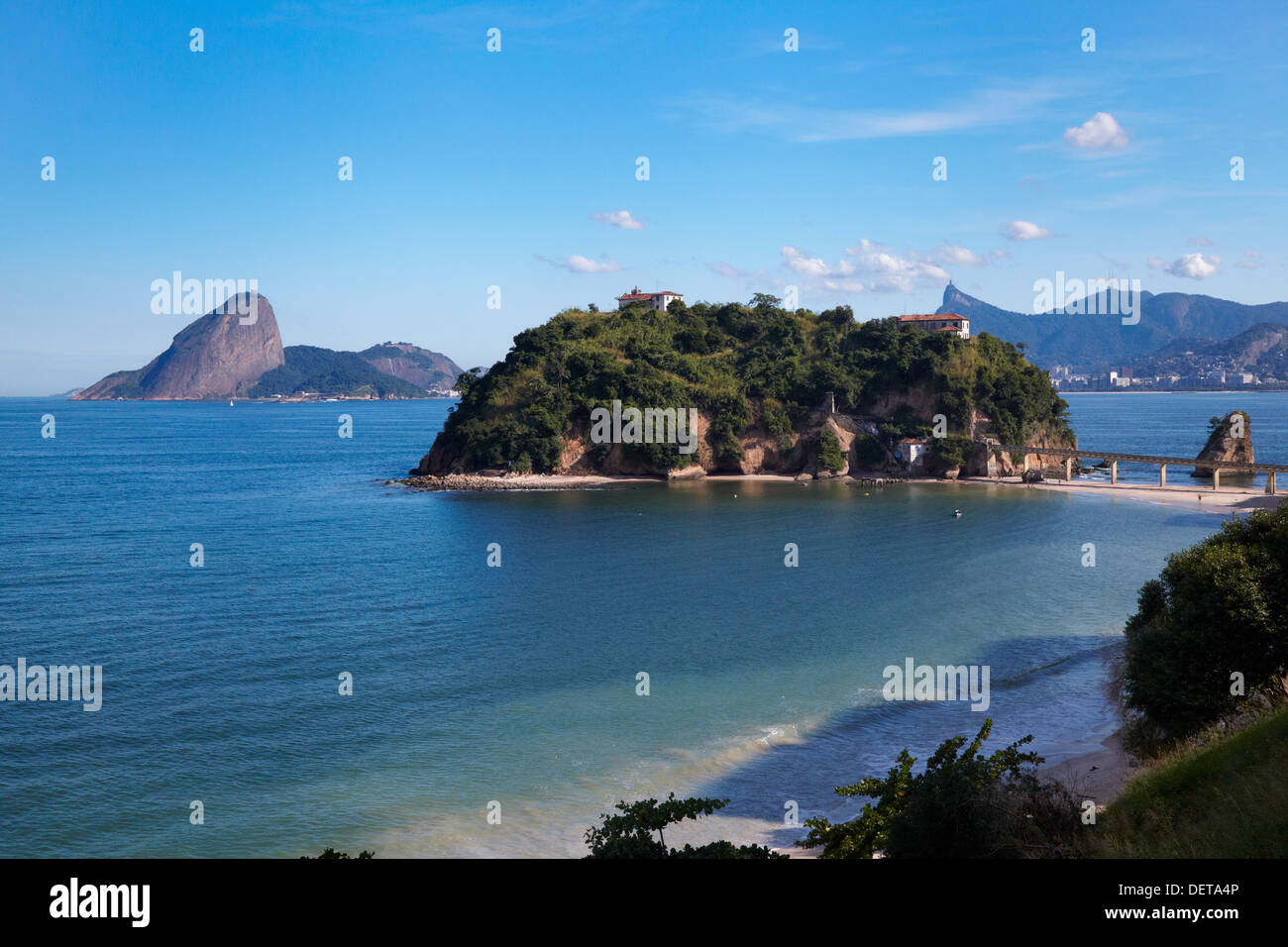 Ilha da Boa Viagem, Niteroi, Brasile, Sud America Immagini Stock