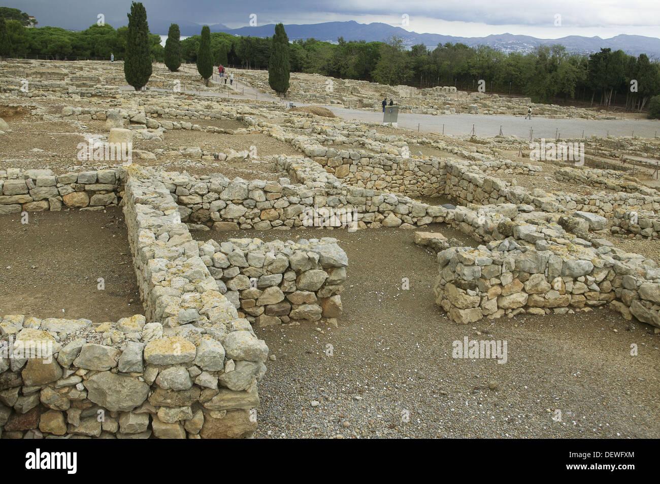 Le Rovine Della Vecchia Greca E Romana Agora A Sfondo Piazza