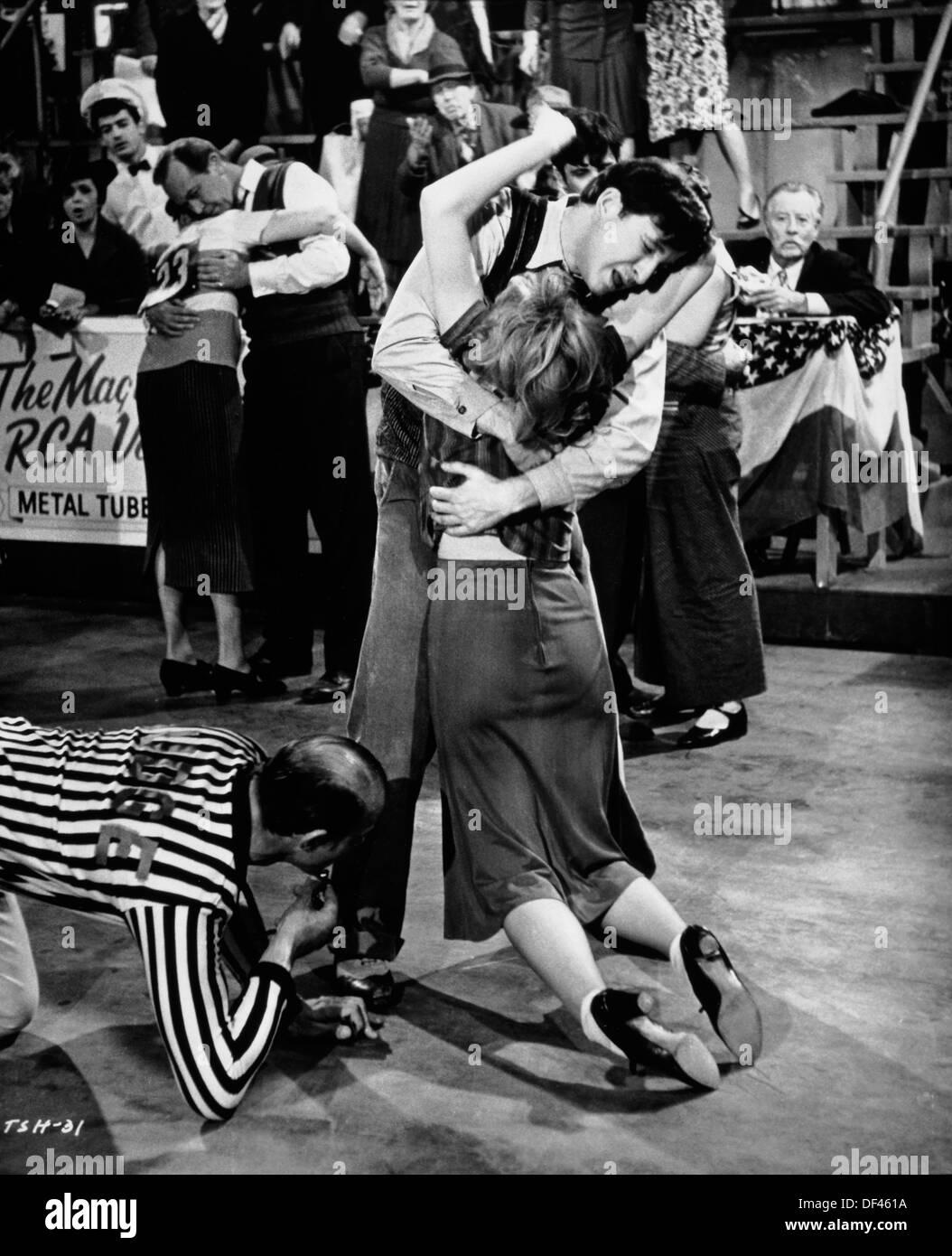 """Maratona scena dance, On-Set del film """"non si uccidono così anche i cavalli?"""", 1969 Immagini Stock"""