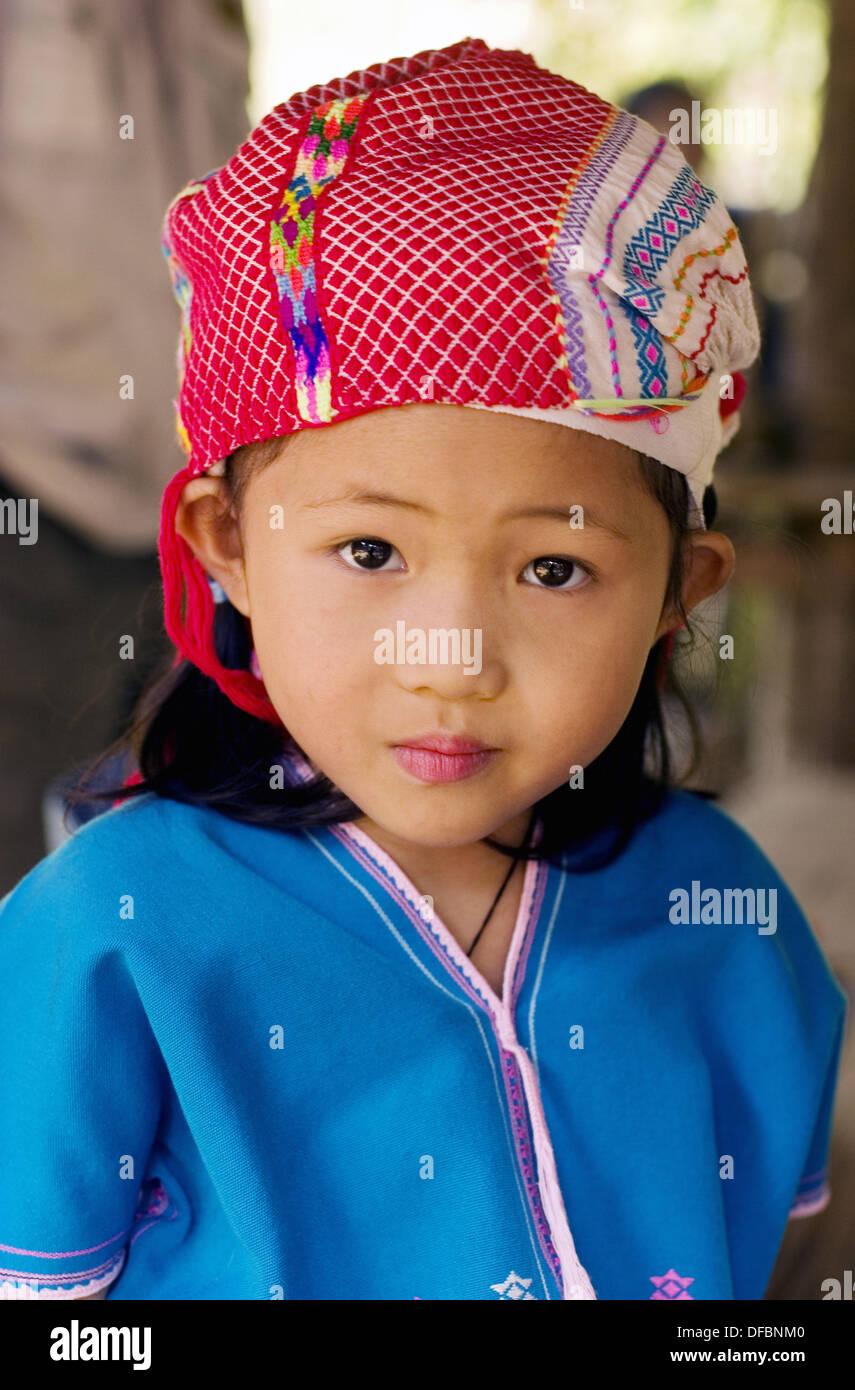 Portret di una ragazza del Laos. Laos Immagini Stock