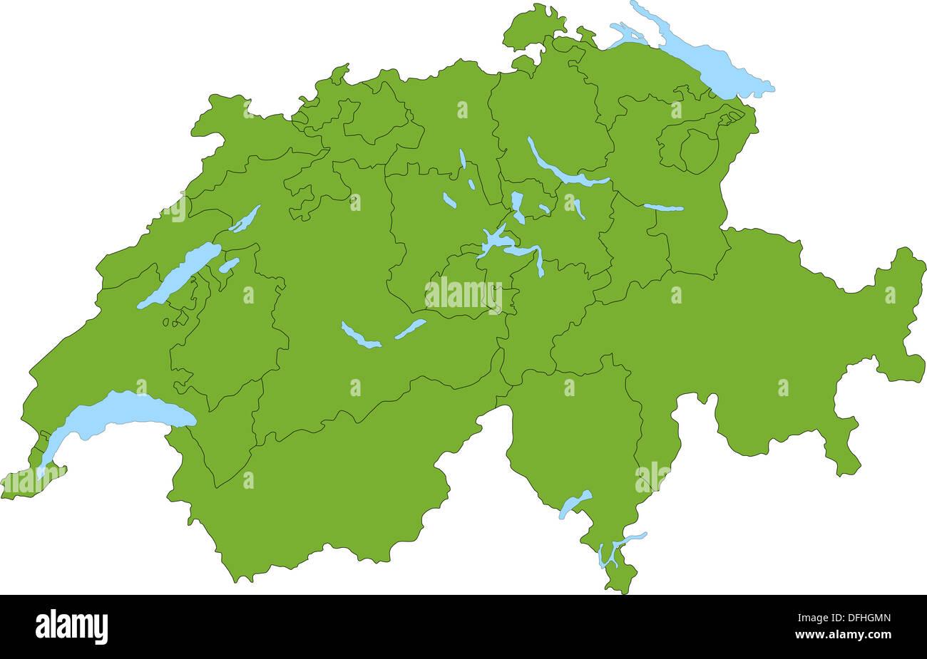 Svizzera Cartina.Green Cartina Della Svizzera Foto Immagine Stock 61237253