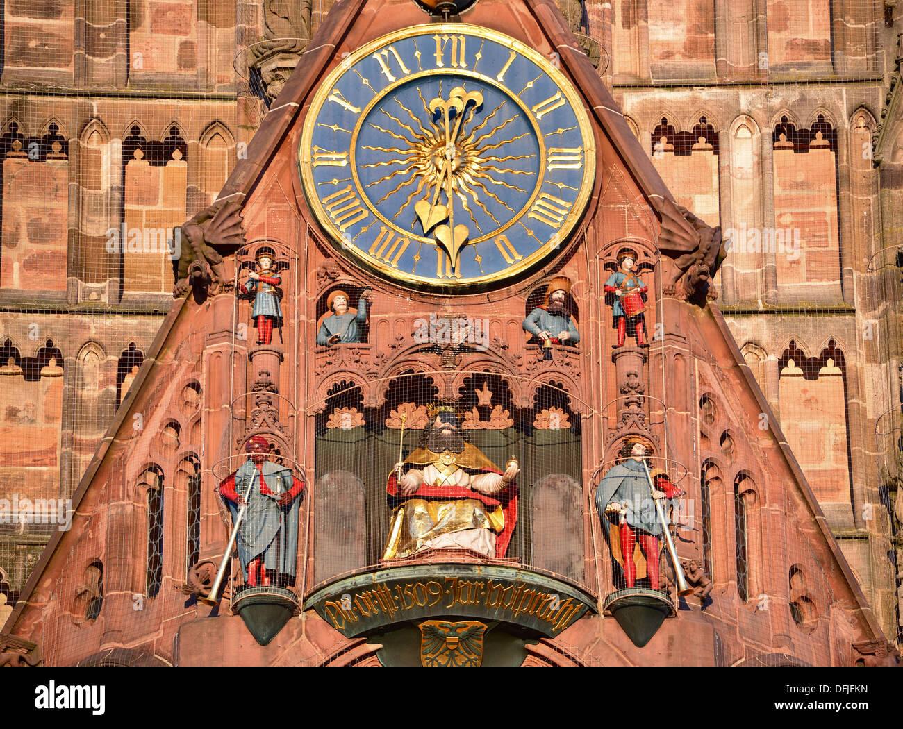 La Frauenkirche di Norimberga, Germania Immagini Stock