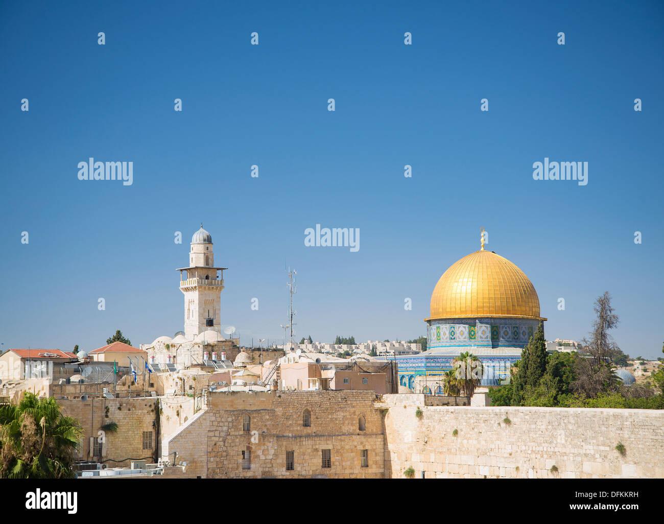 Mura della città vecchia, di Gerusalemme Israele Immagini Stock