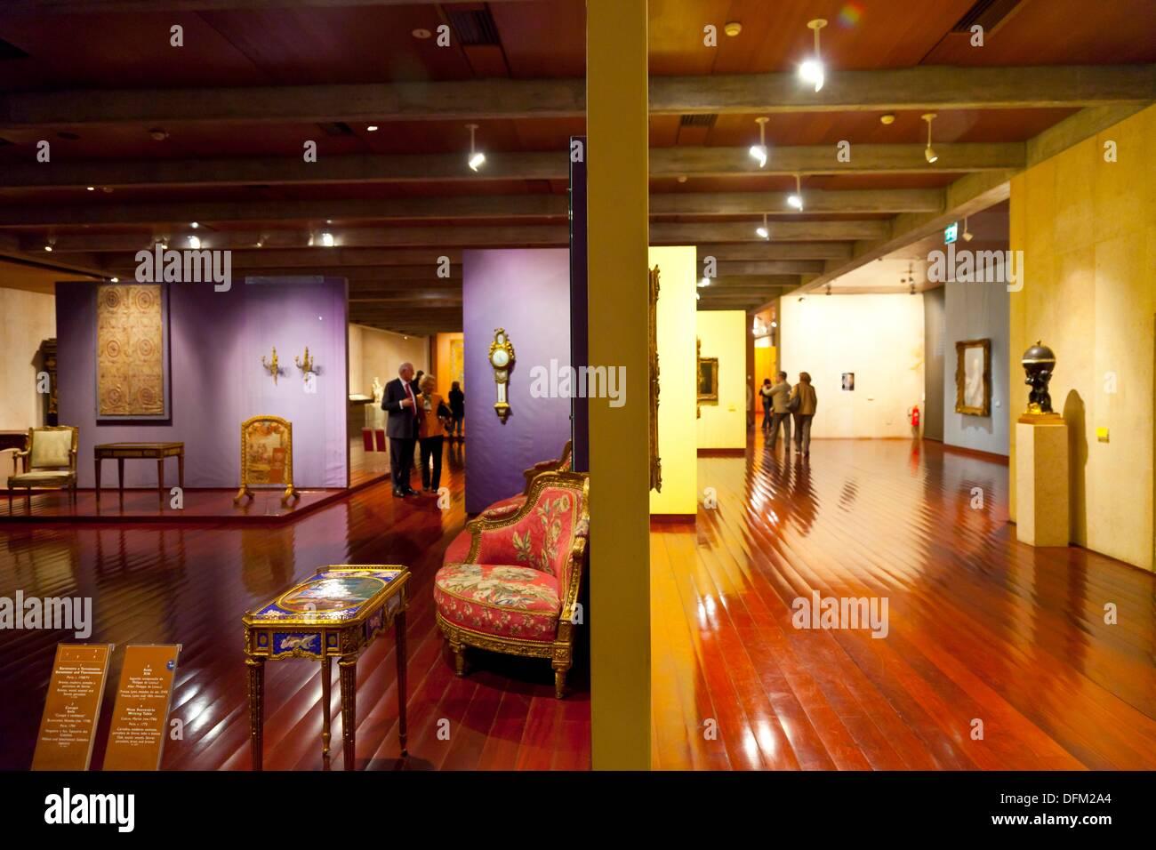 Arti Decorative nel Museo Gulbenkian, Lisbona, Portogallo Immagini Stock