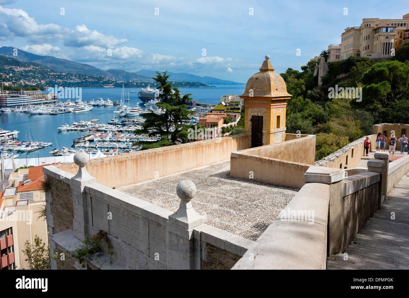 Il Principato di Monaco dal Palazzo del Principe Immagini Stock