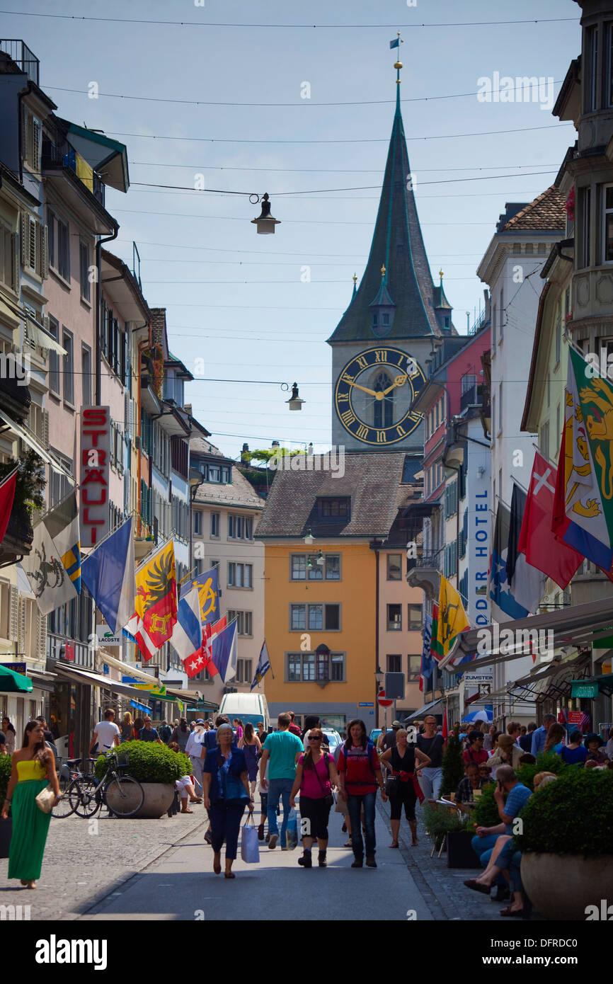 La Svizzera, Zurigo, città vecchia. Immagini Stock