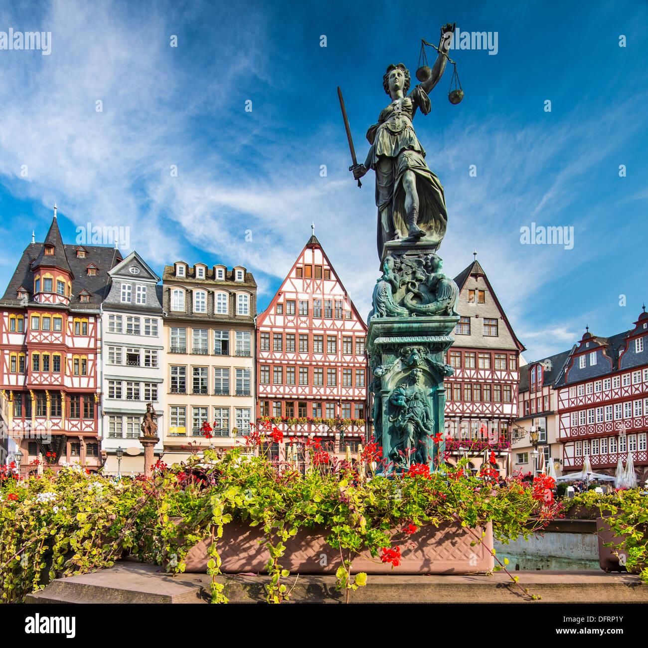 La città vecchia di Francoforte in Germania. Immagini Stock