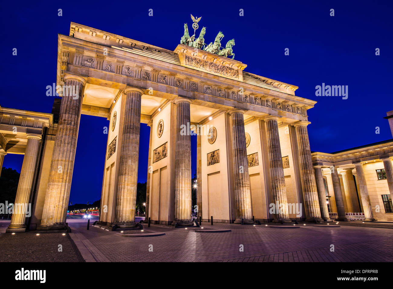 La Porta di Brandeburgo a Berlino, Germania. La Porta di Brandeburgo a Berlino, Germania. Immagini Stock