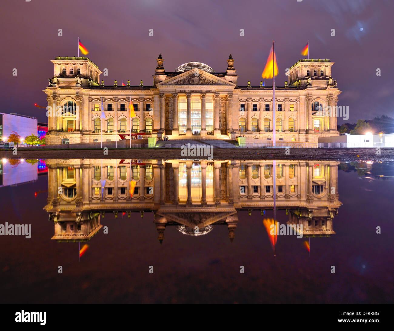 Il palazzo del Reichstag a Berlino, Germania Immagini Stock