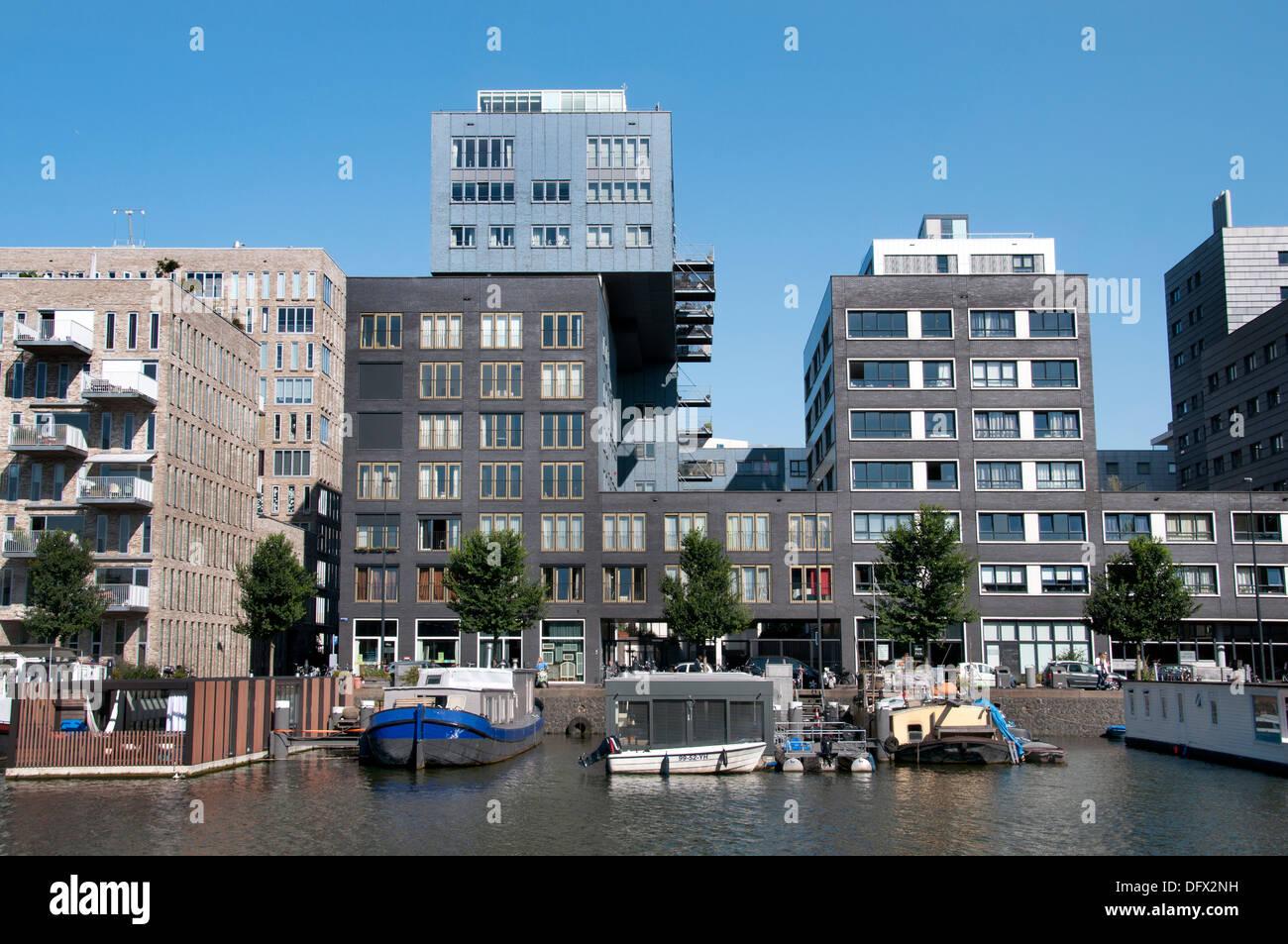 Westerdock Amsterdam Paesi Bassi architettura moderna Immagini Stock