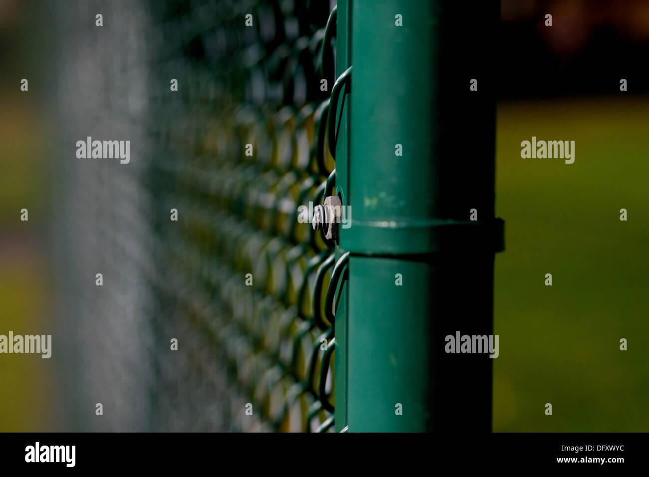 Immagine ravvicinata di recinzioni di filo Immagini Stock