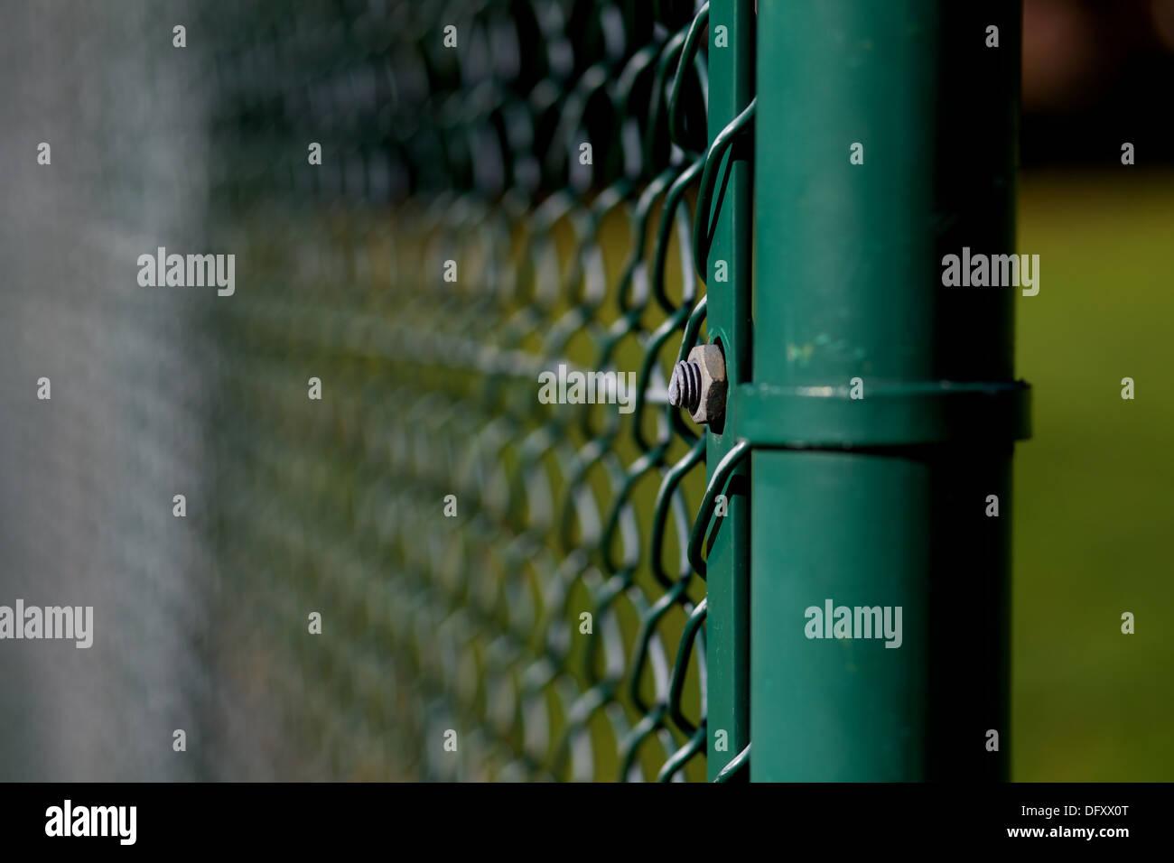 Close up di recinzioni di filo Immagini Stock