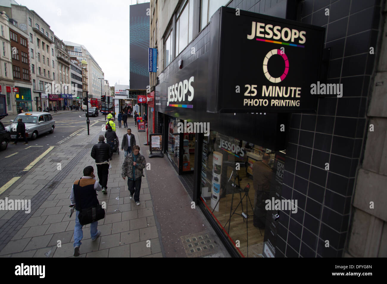 Jessops presa fotografica Oxford Street London Immagini Stock