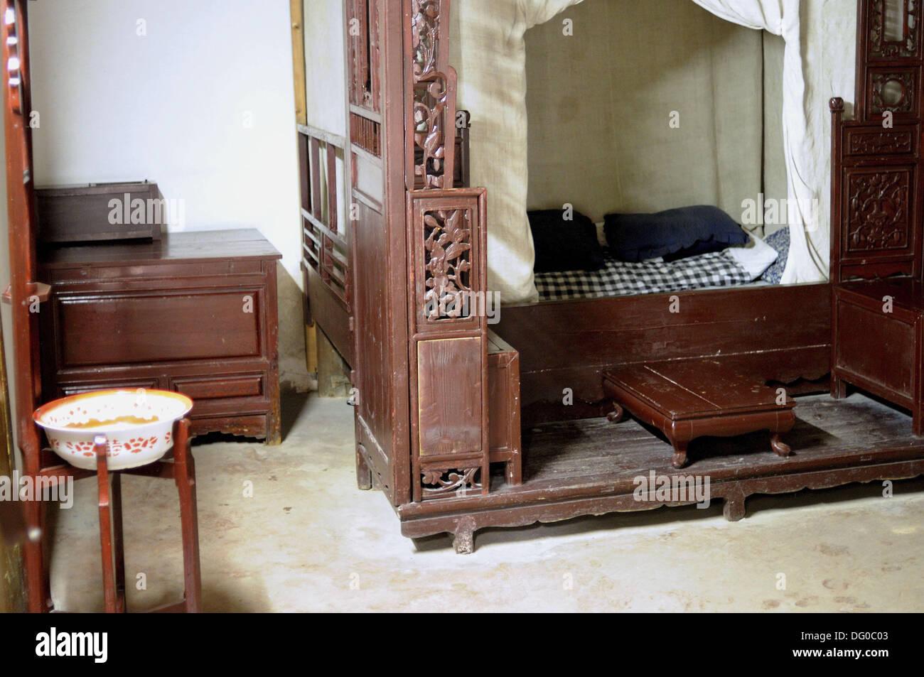 Le Cinesi A Letto.Gli Antichi Cinesi Camera Da Letto Foto Immagine Stock 61475011