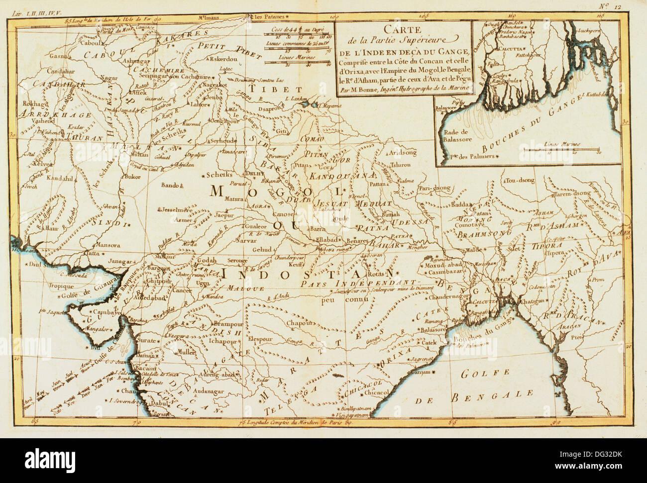 Cartina Dell India Del Nord.India Del Nord Xviii Secolo Mappa Foto Stock Alamy