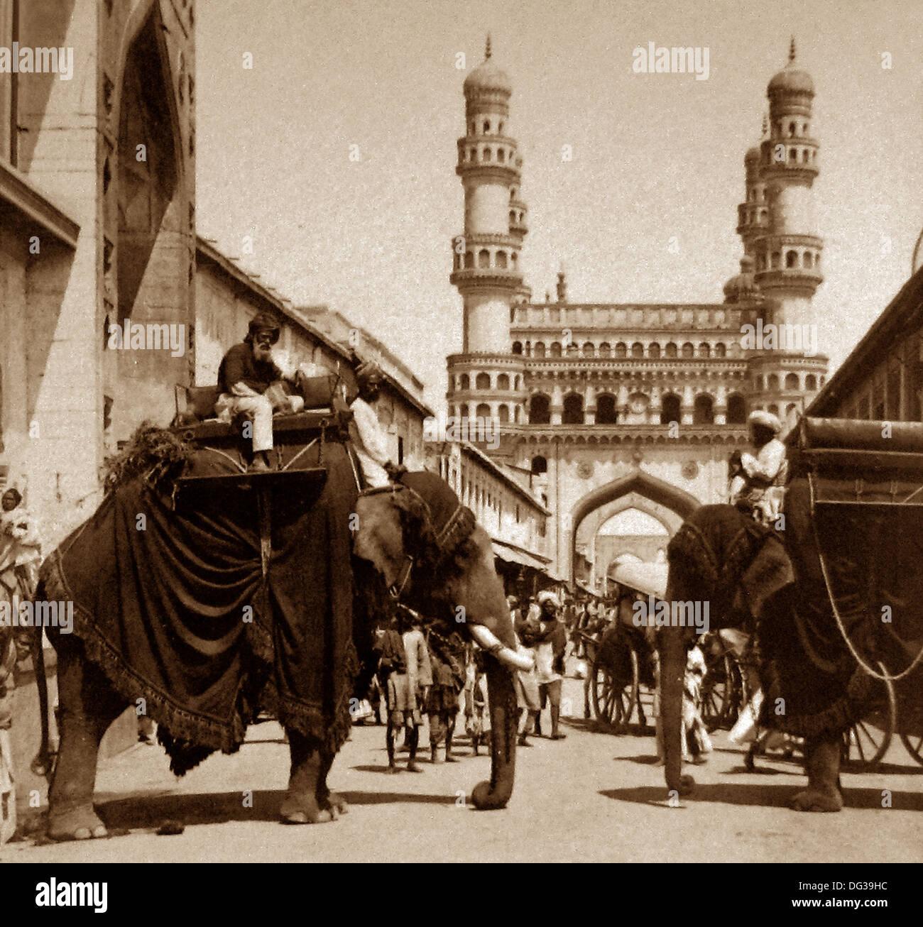 India - Hyderabad inizio novecento Immagini Stock