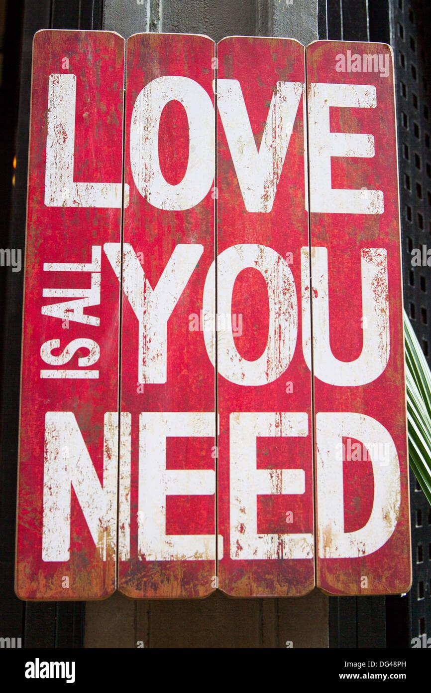 L amore è tutto ciò di cui avete bisogno Immagini Stock