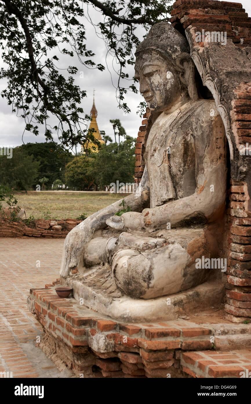 Arte religiosa nell'Ava, Ava, Divisione di Mandalay, MYANMAR Birmania, Asia Immagini Stock