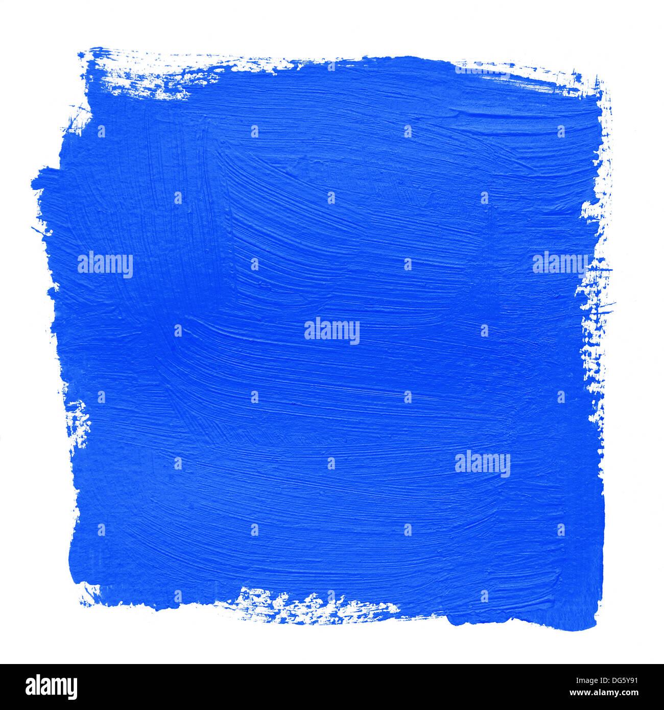 Dipinto a mano con sfondo blu brillante vernice acrilica Immagini Stock