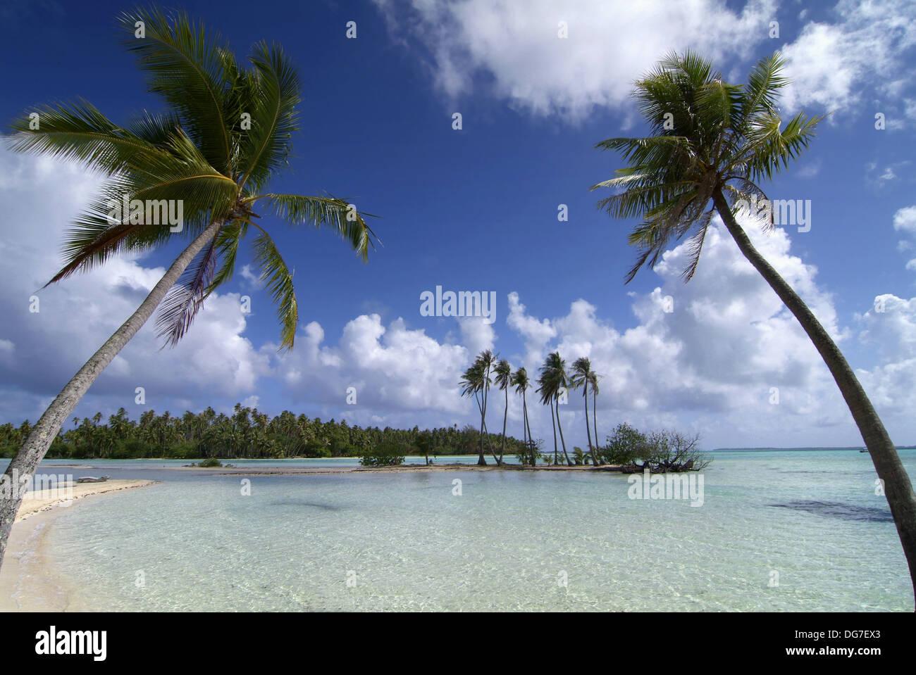 Motu' atollo Tautau, Tahaa island, Polinesia Foto & Immagine