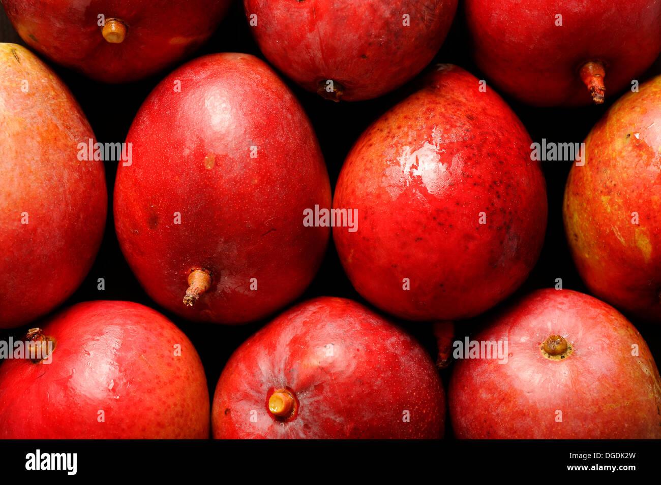 Primo piano della mature e succose sfondi di mango Immagini Stock