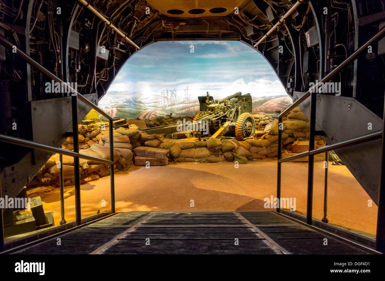 Il Museo Nazionale del Marine Corps. Coinvolgente il Vietnam Khe Sanh Collina 881 South gallery presentano display. Quantico, VA, Stati Uniti d'America. Immagini Stock