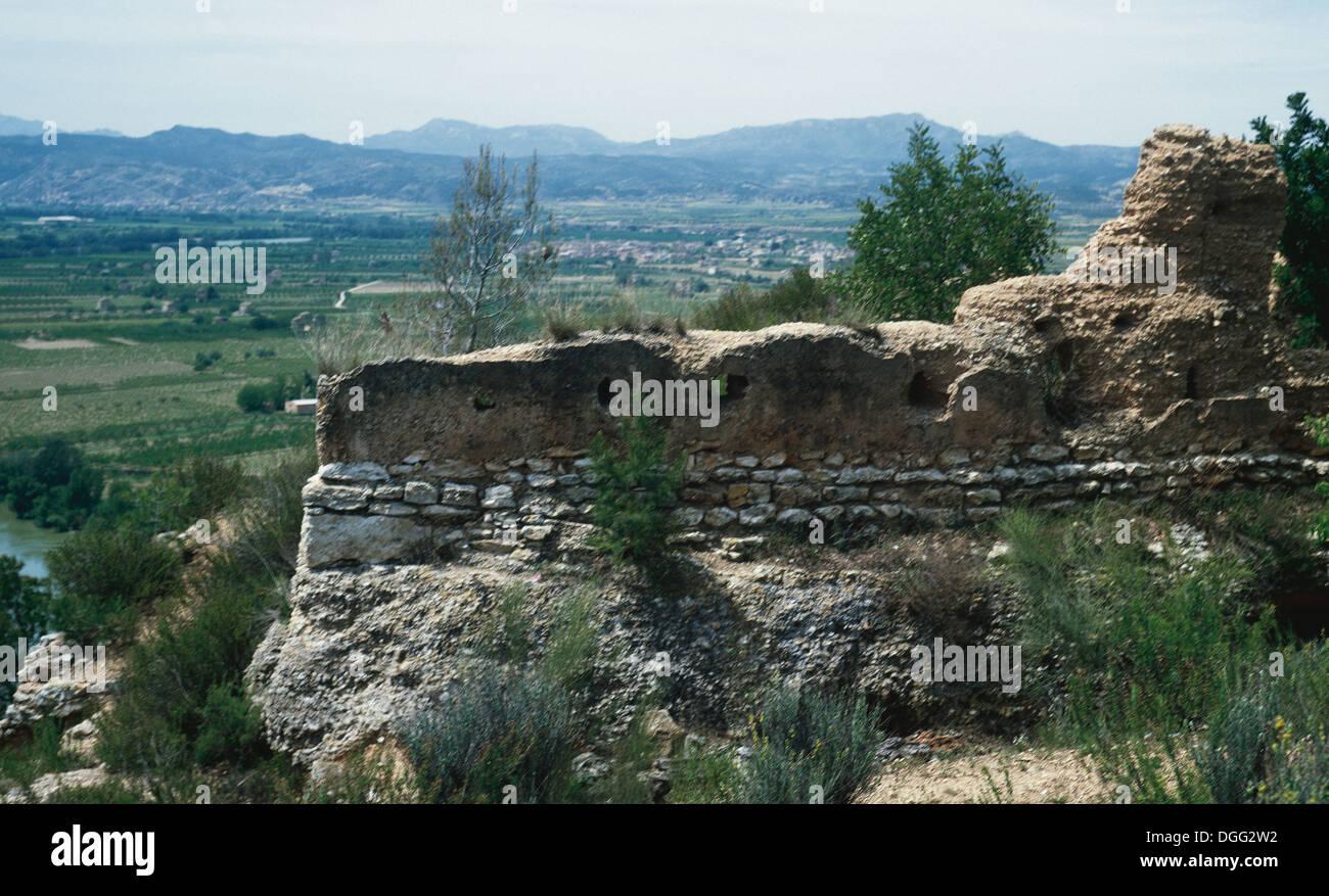 Spagna. Tivissa. Insediamento iberico del Castellet de Banyoles. Immagini Stock