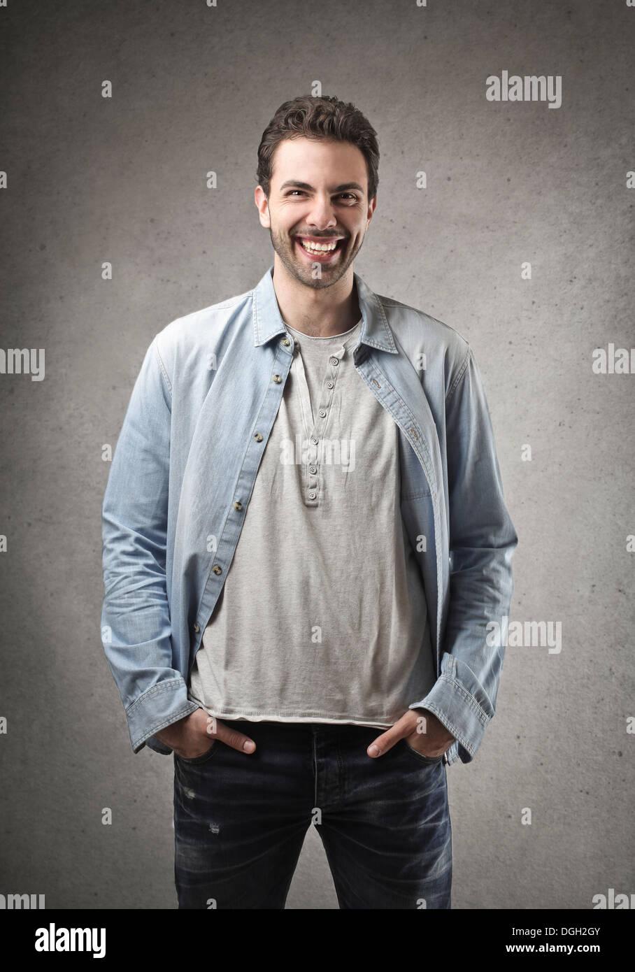 Ritratto di un uomo sorridente Immagini Stock