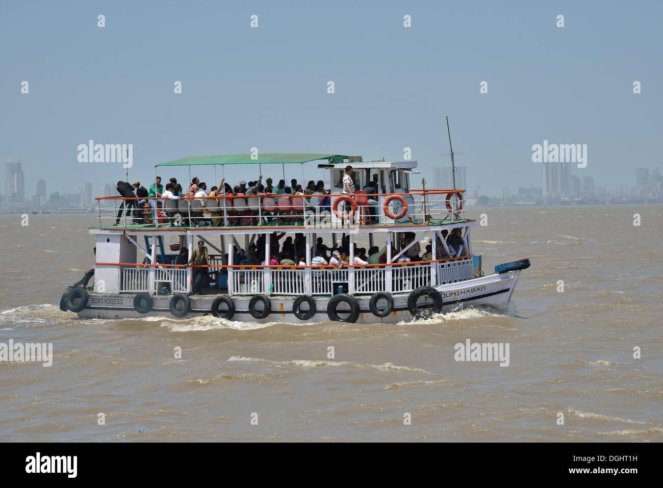 Escursione in barca, Mumbai, Maharashtra, India Immagini Stock