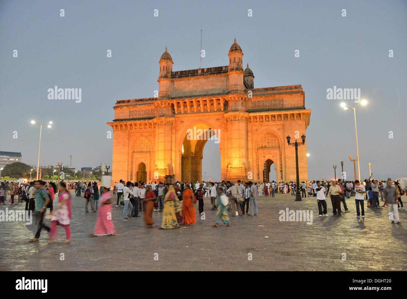 Gateway of India monumento, punto di riferimento di Mumbai, Mumbai, Maharashtra, India Immagini Stock