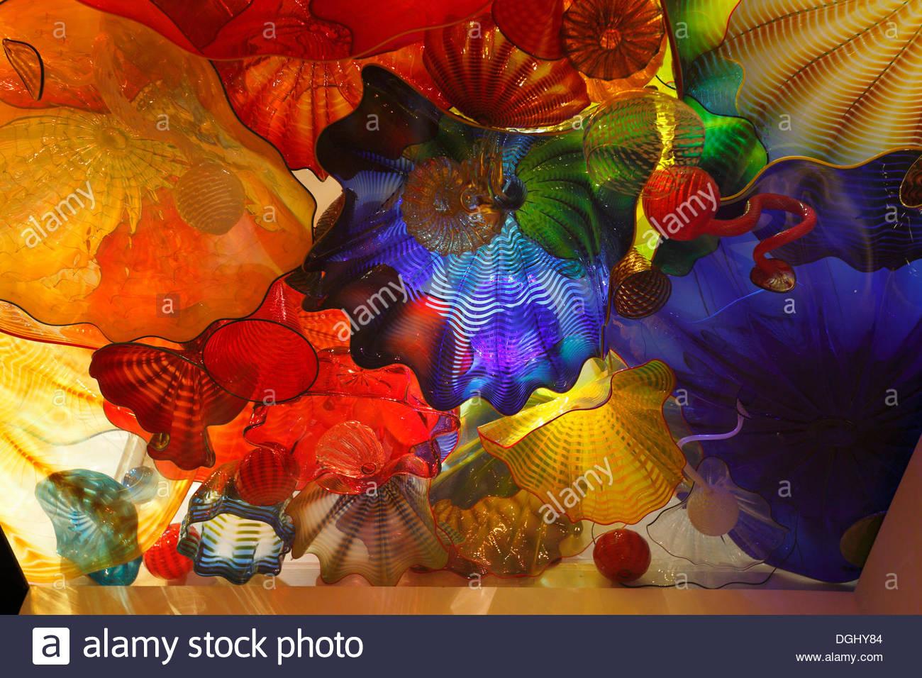 Mostra di vetro colorato di Dale Chihuly, Montreal Museo di Belle Arti, Montréal, Provincia di Quebec, Canada Immagini Stock