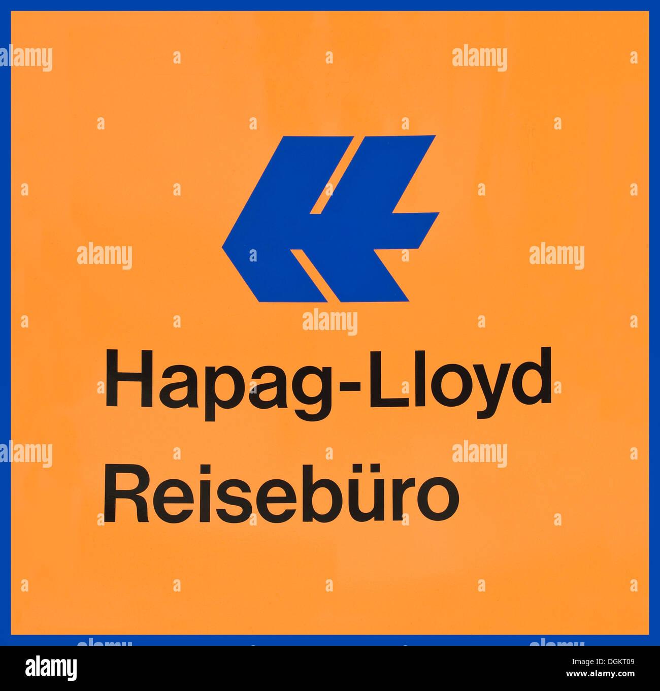 Logo Hapag Lloyd Reisebuero, Hapag Lloyd agenzia di viaggi Immagini Stock