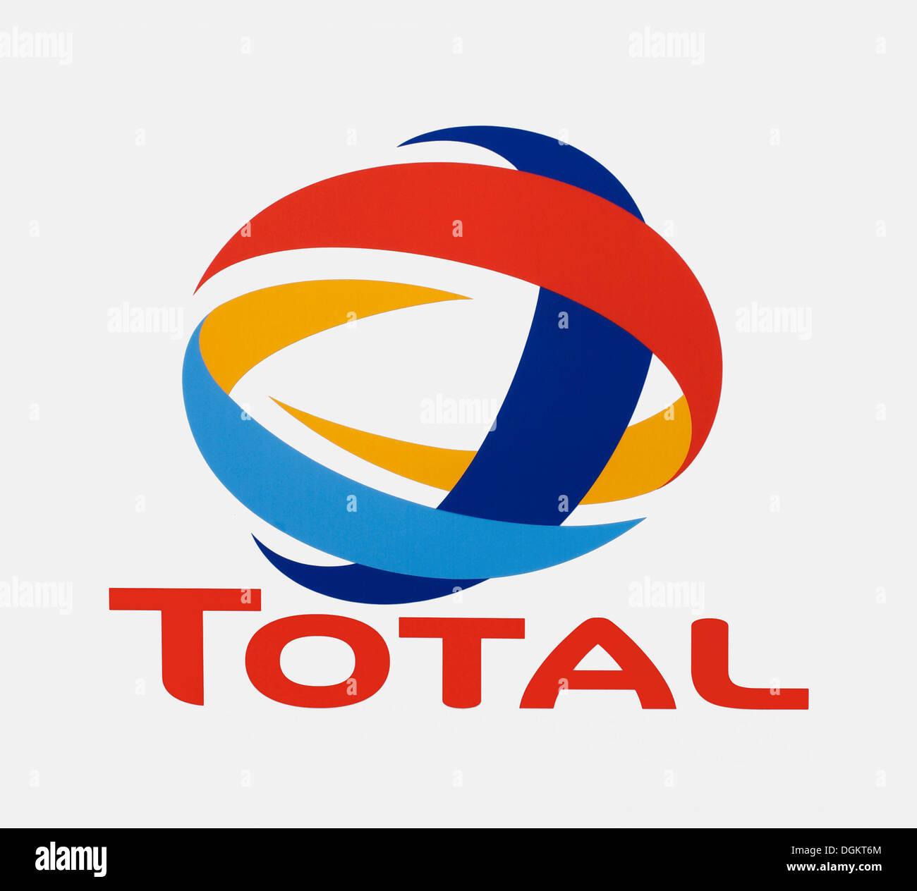 Il logo, totale, olio minerale company Immagini Stock