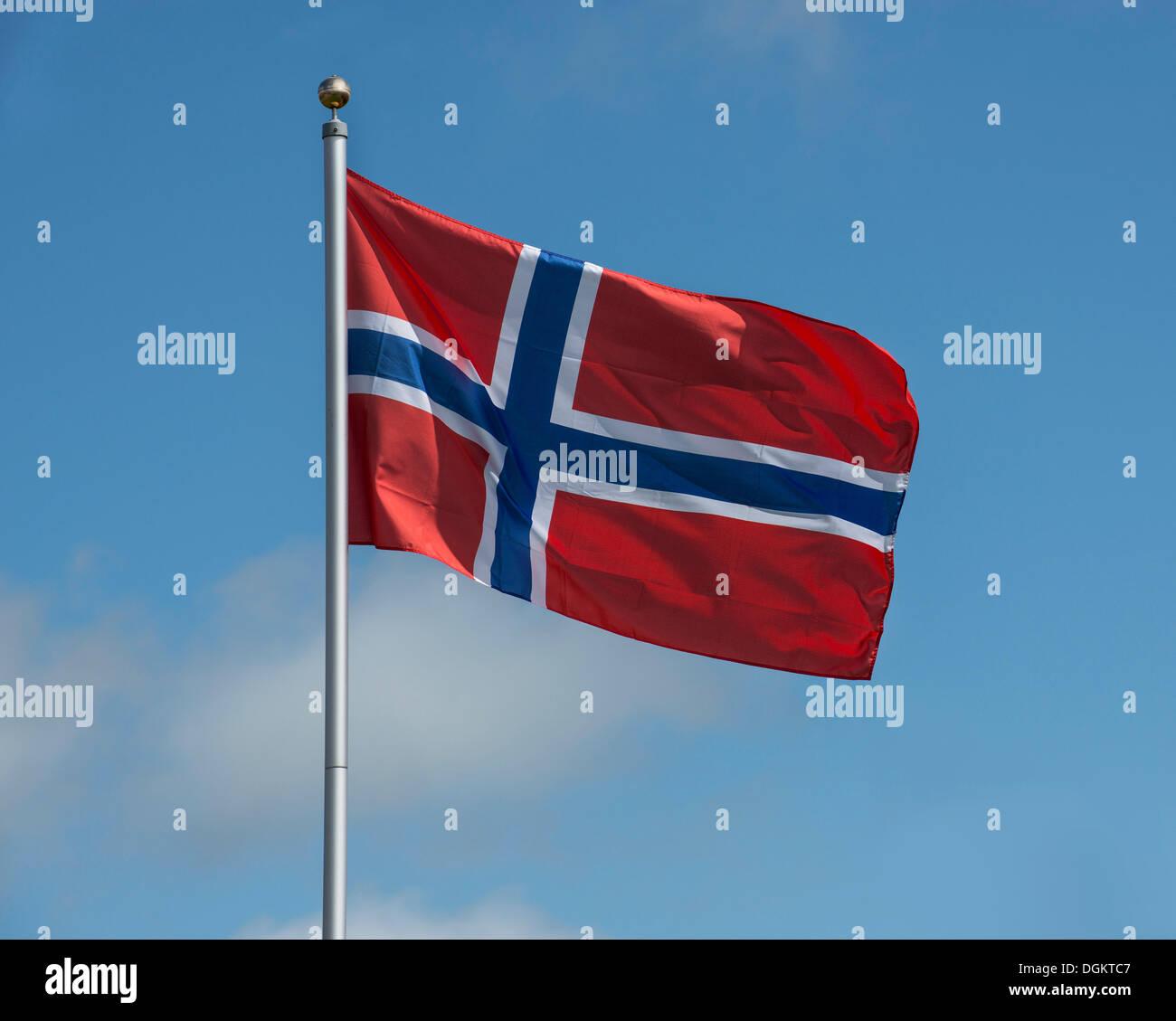 Norvegese bandiera nazionale Immagini Stock