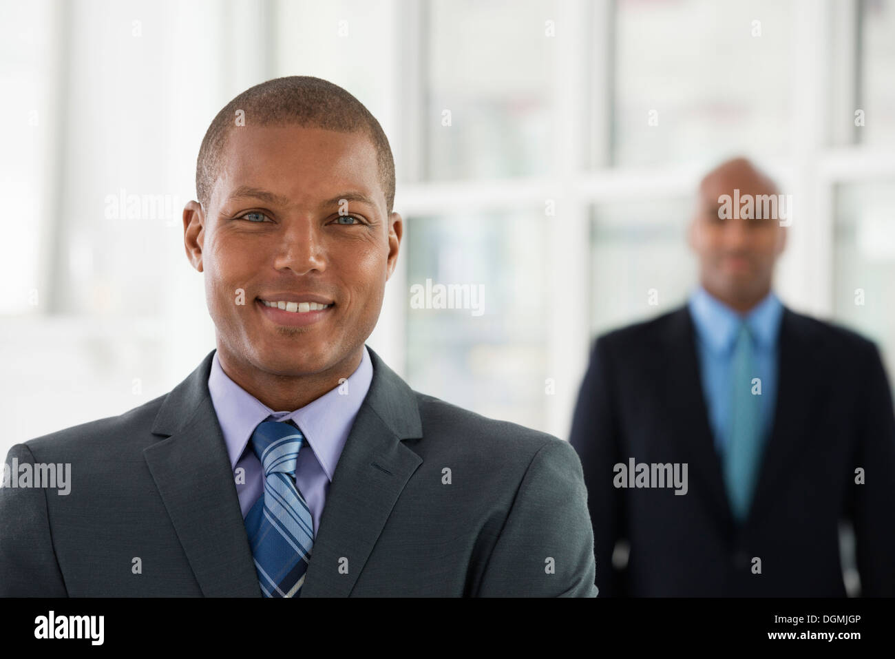 La gente di affari. Due uomini in giacca. Immagini Stock