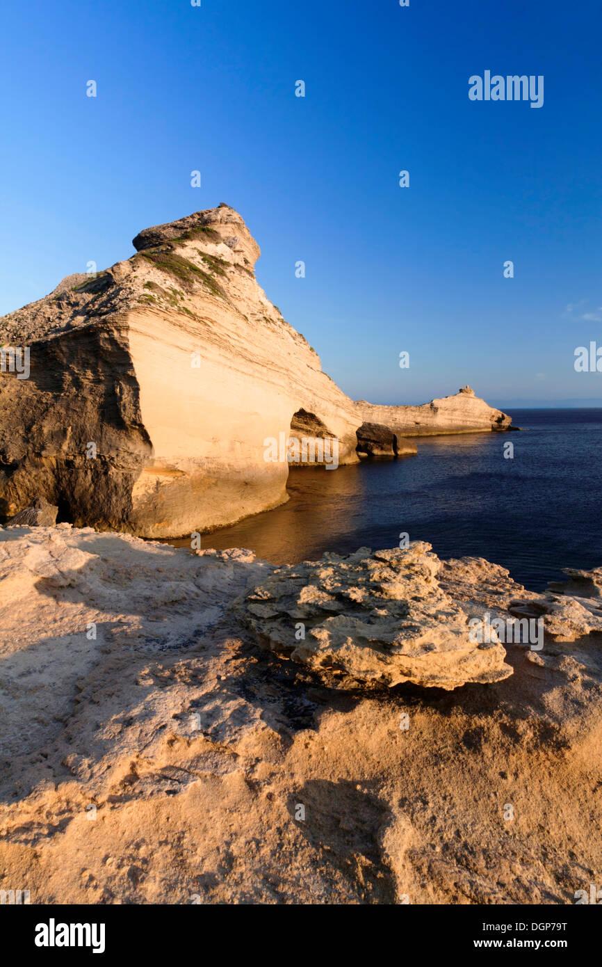 Capo Pertusato, Bocche di Bonifacio, Corse du Sud, Corsica, Francia, Europa Immagini Stock