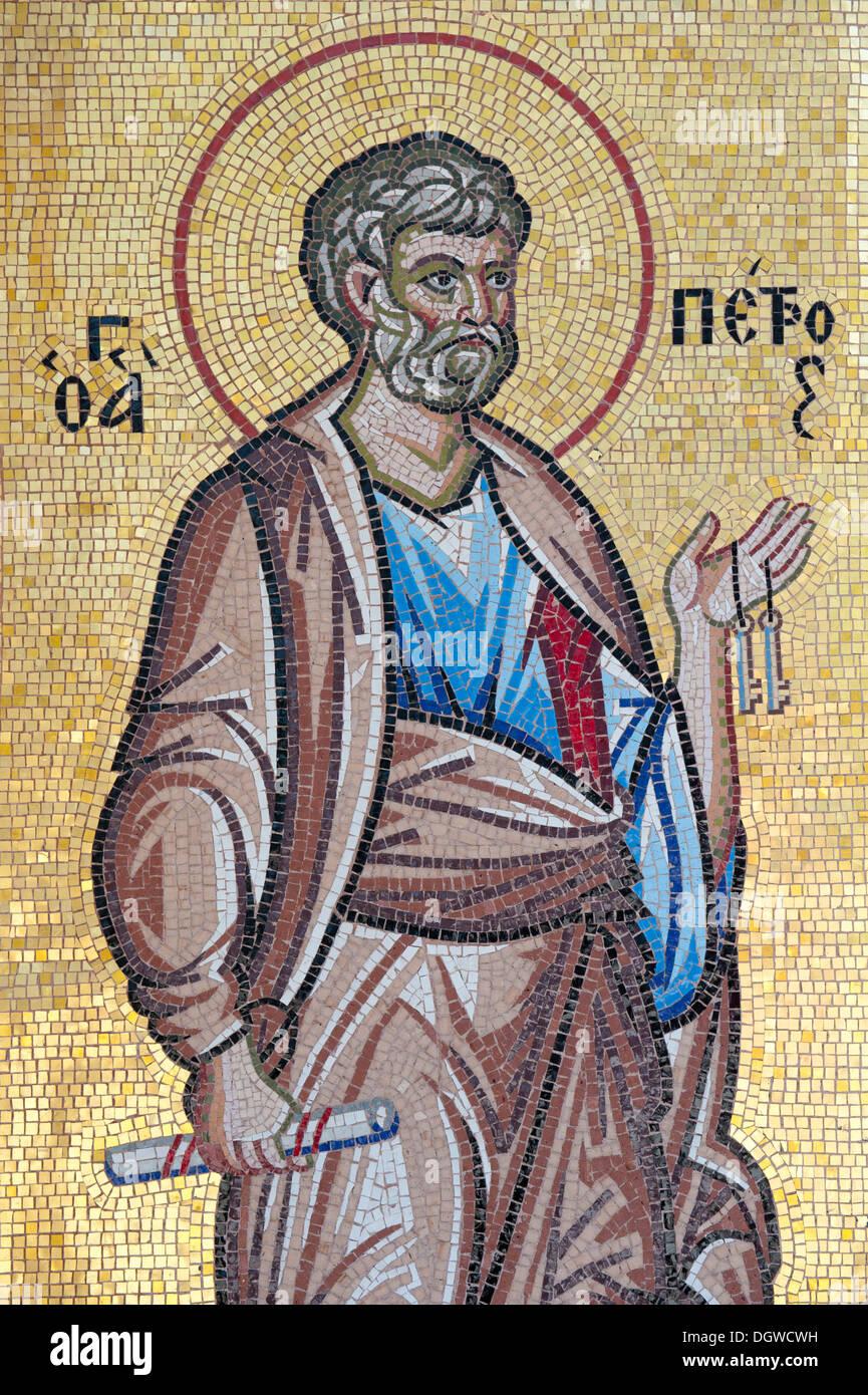 Greco il cristianesimo ortodosso, mosaico, San Paolo, il Monastero Kykkos, Troodos, Cipro, Europa Immagini Stock