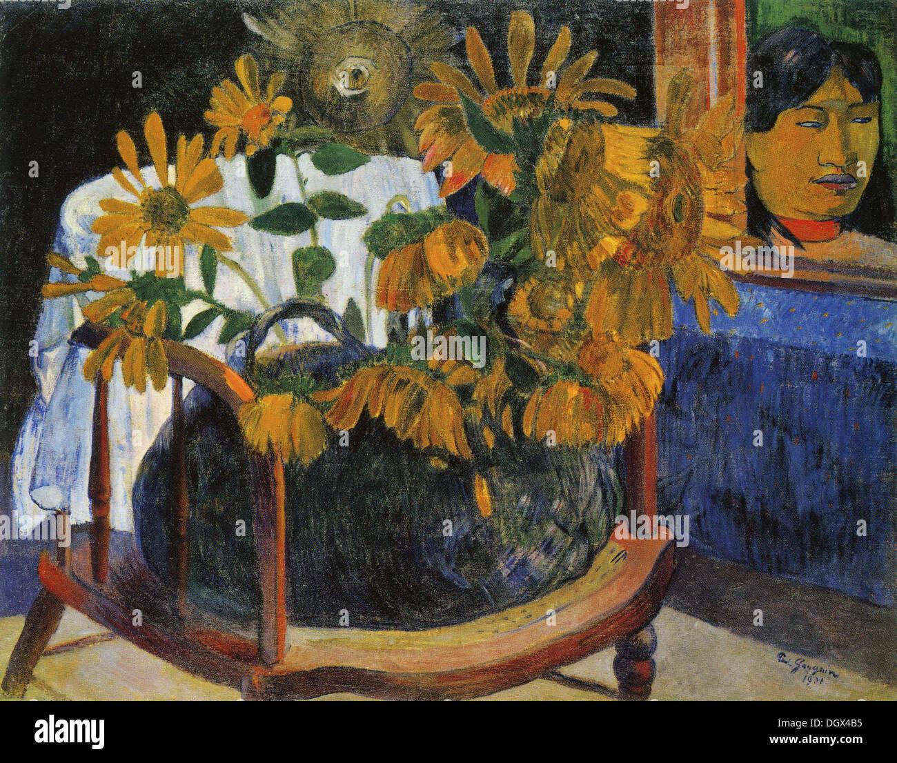 Girasoli - da Paul Gauguin, 1901 Immagini Stock