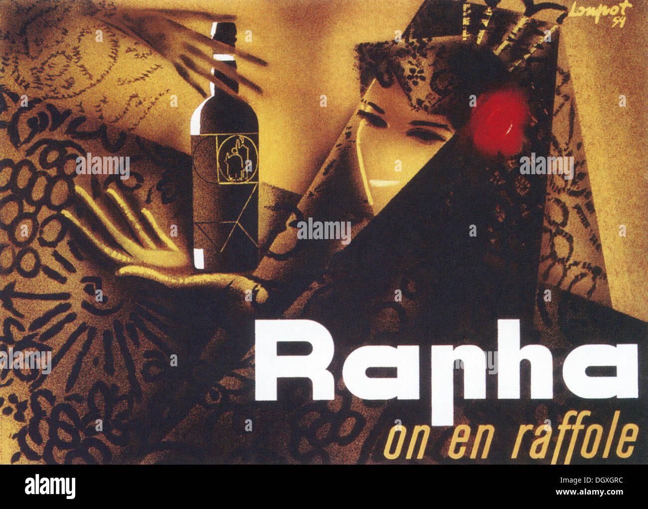 Rapha - Da Charles Loupot, poster vintage - solo uso editoriale. Immagini Stock