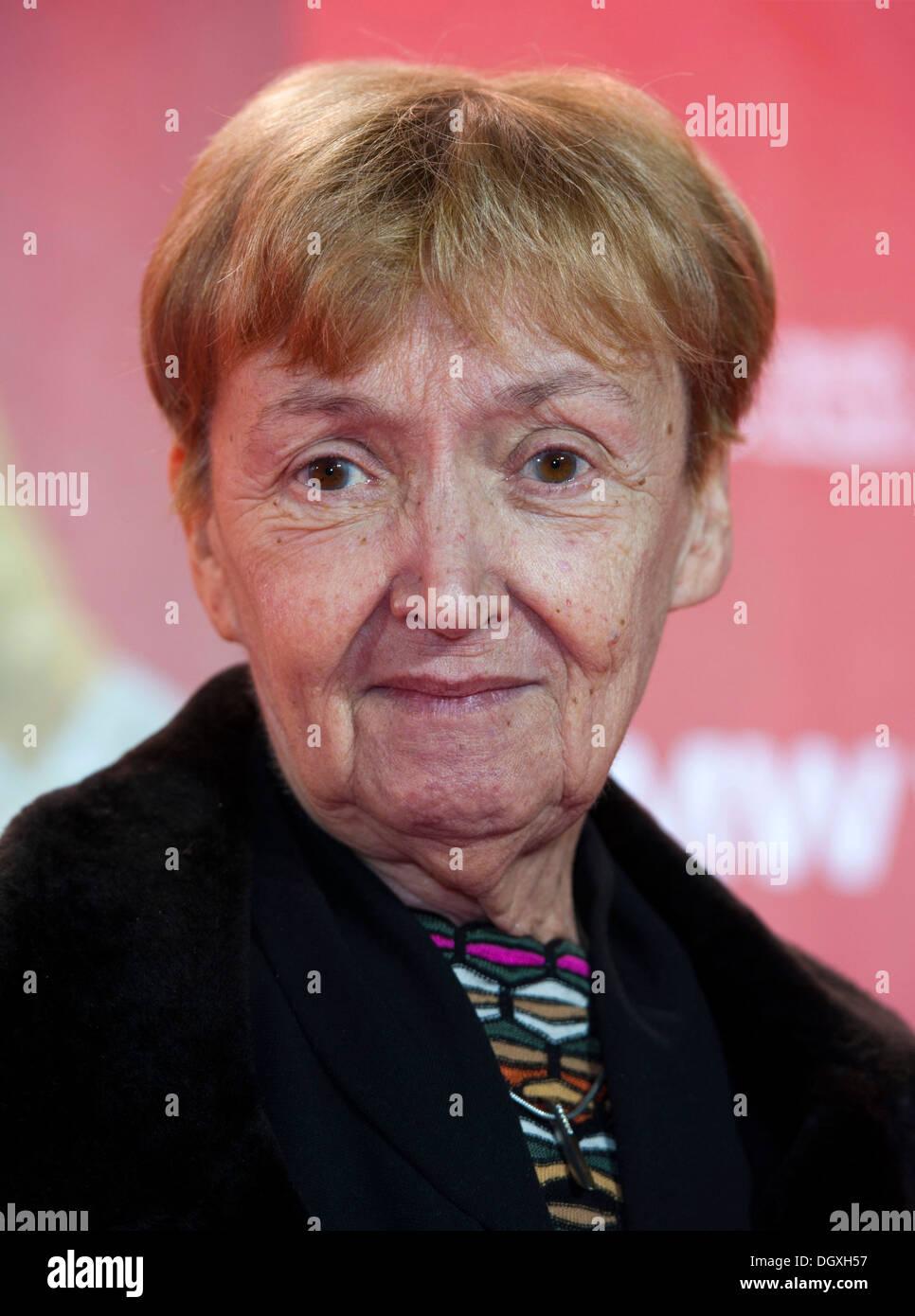 Scrittore tedesco Christine Noestlinger a photocall a Monaco di Baviera Immagini Stock