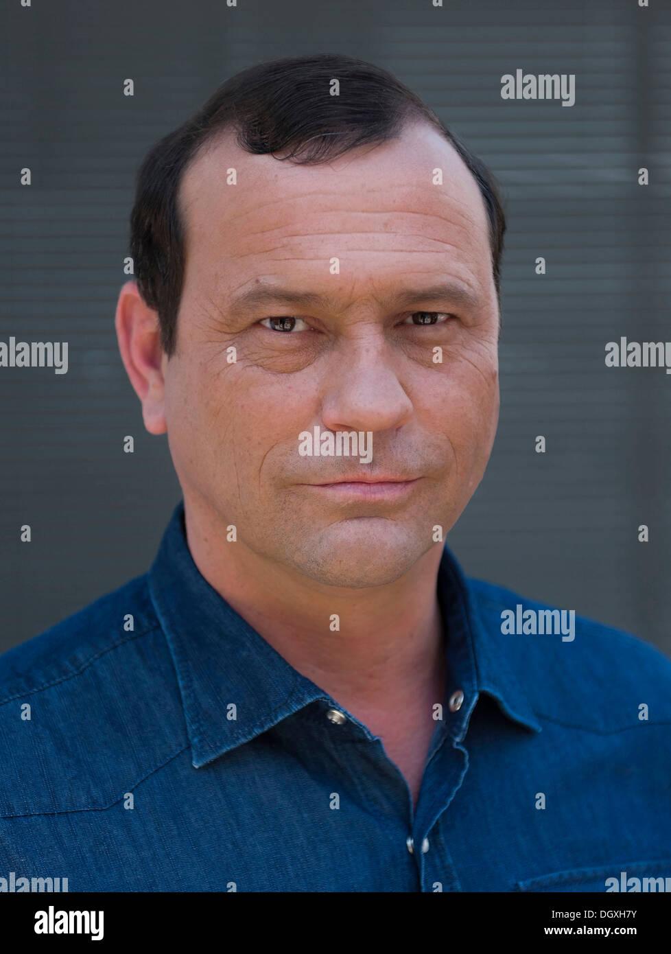 Attore Michel Guillaume a photocall in Ismaning vicino a Monaco di Baviera Immagini Stock