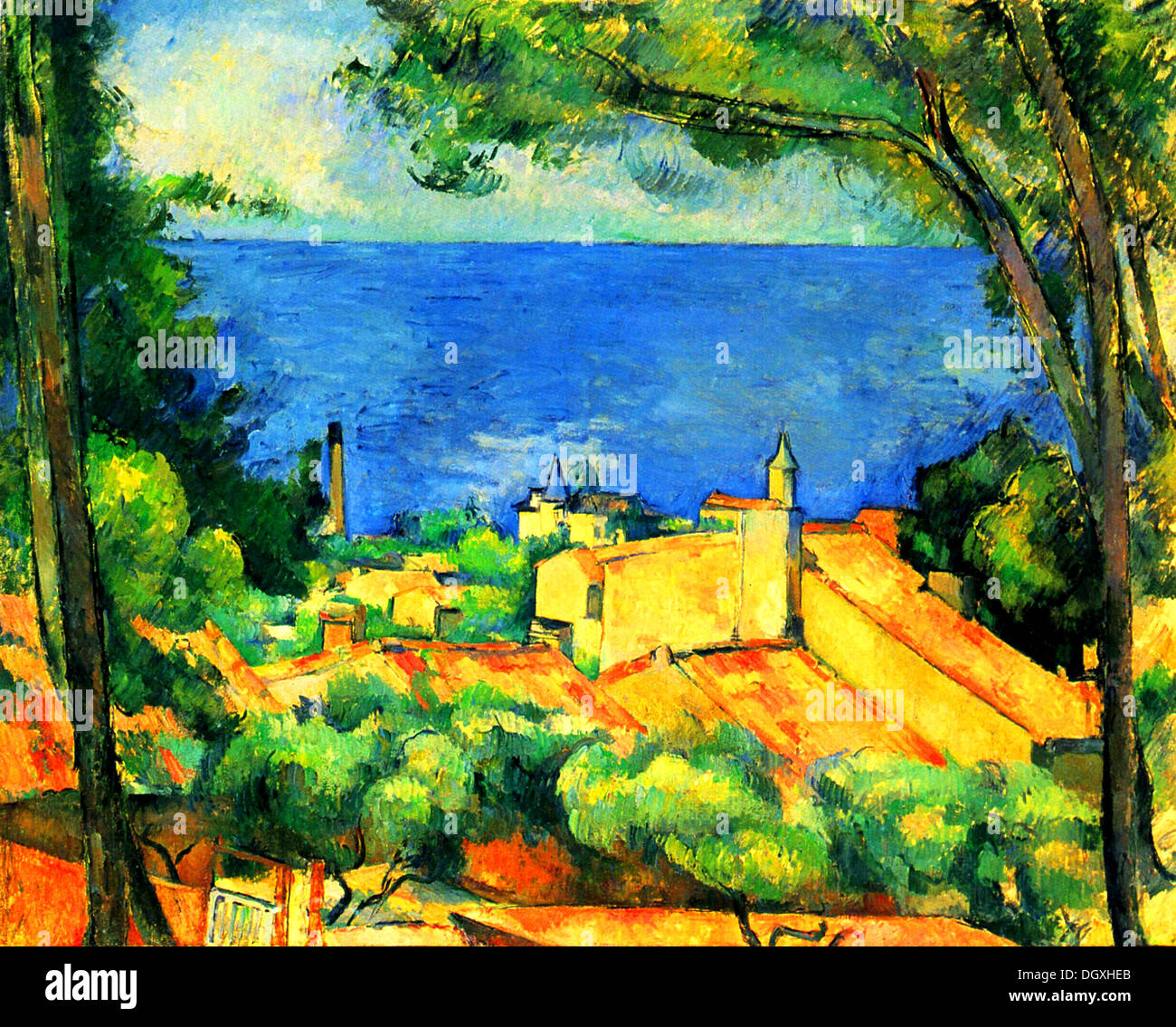 L'Estaque - da Paul Cézanne, 1885 Immagini Stock