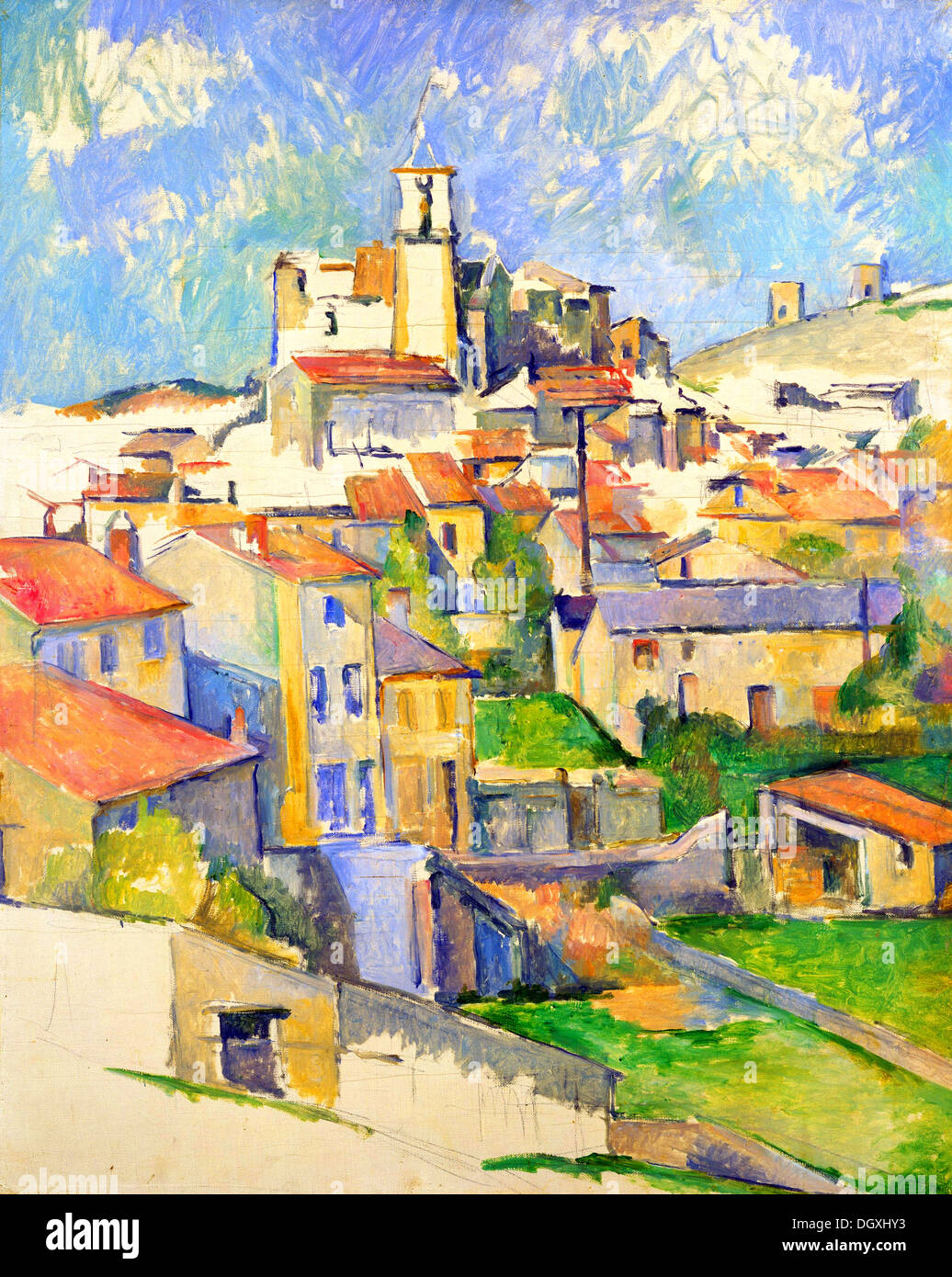 Gardanne - di Paul Cezanne, 1886 Immagini Stock