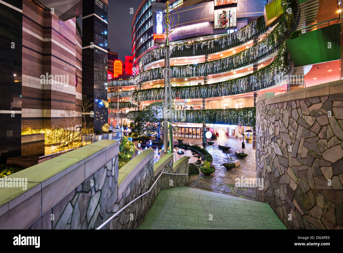 Canal City a Fukuoka, Giappone. Immagini Stock