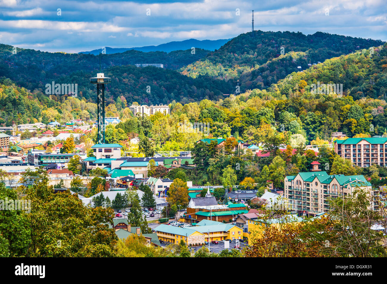 Gatlinburg, Tennessee nelle Smoky Mountains. Immagini Stock